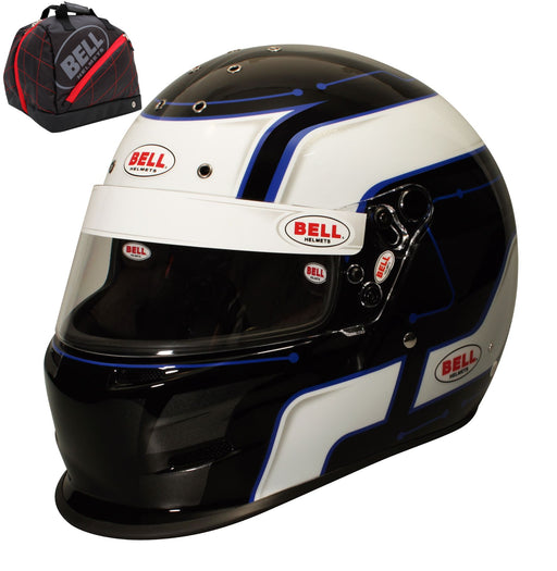 Bell K.1 Pro Circuit Helmet Blue  with Premium Bag Victory R.1 - Fast Racer