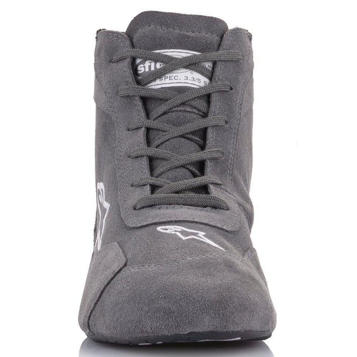 Alpinestars 2021 SP V2 Auto Shoes Racing Shoe Grey Front - Fast Racer