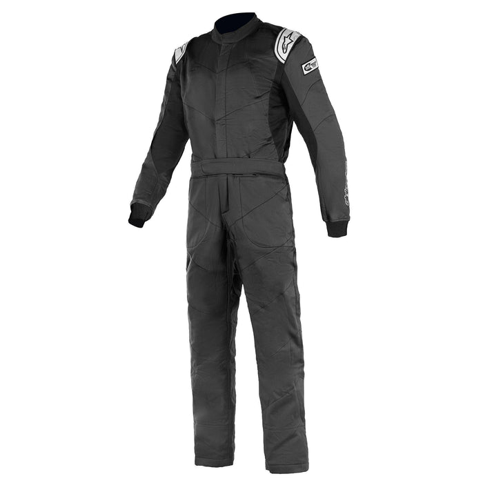 Alpinestars 2021 KNOXVILLE V2 Racing Suit Boot Cut - Black / White Front - Fast Racer