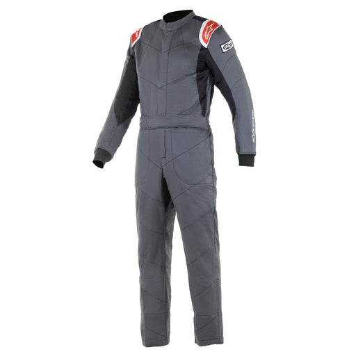 Alpinestars 2021 KNOXVILLE V2 Racing Suit Boot Cut - Anthracite / Red Front - Fast Racer