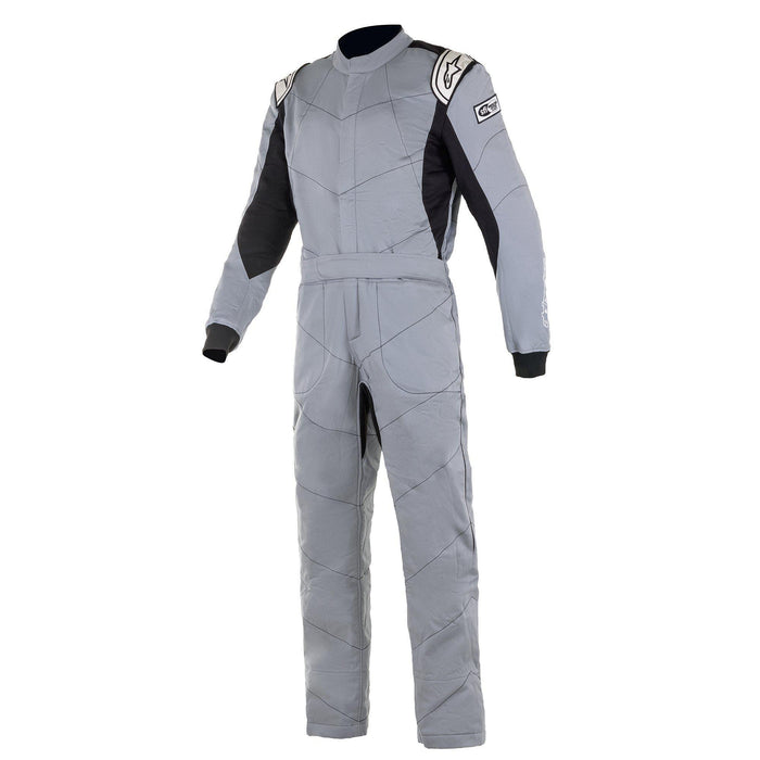 Alpinestars 2021 KNOXVILLE V2 Racing Suit Boot Cut - Mid Gray / Black Front - Fast Racer