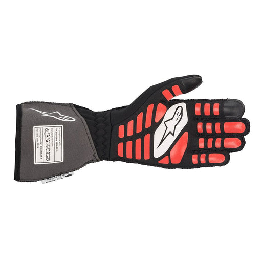 Alpinestars TECH-1 ZX V2 Racing Gloves - Black / Anthracite / Red Back - Fast Racer