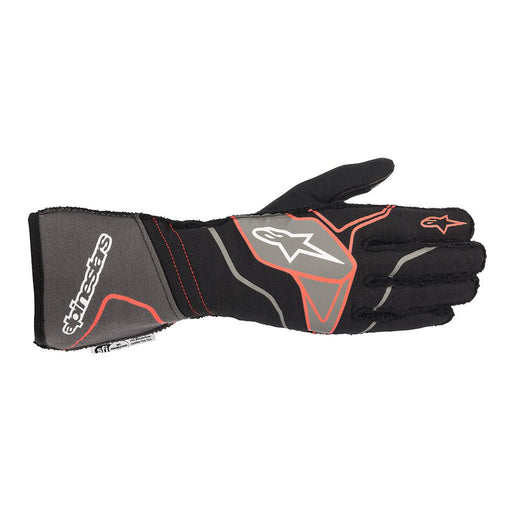 Alpinestars TECH-1 ZX V2 Racing Gloves - Black / Anthracite / Red Front - Fast Racer