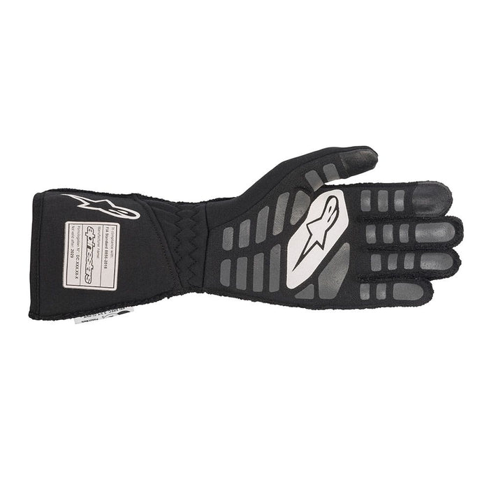 Alpinestars TECH-1 ZX V2 Racing Gloves - Black / White Back - Fast Racer