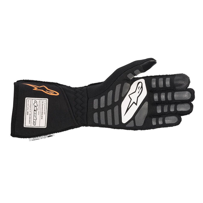 Alpinestars TECH-1 ZX V2 Racing Gloves - Black / Fluo Orange Back - Fast Racer