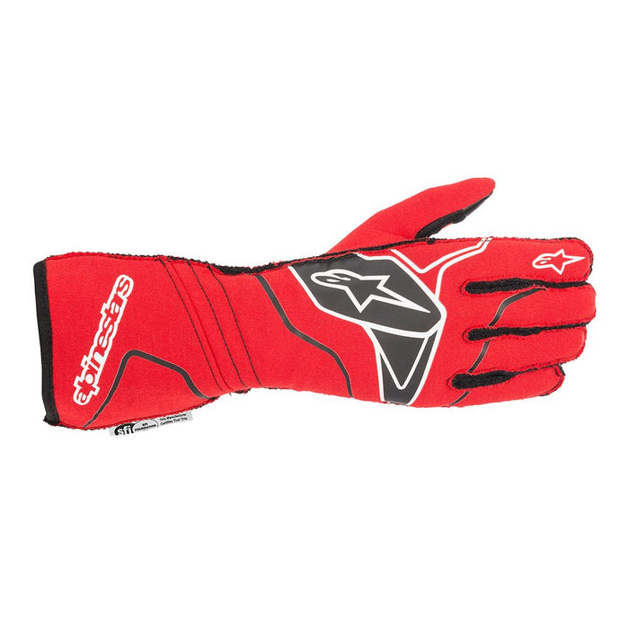 Alpinestars TECH-1 ZX V2 Racing Gloves - Red / Black / White Front - Fast Racer