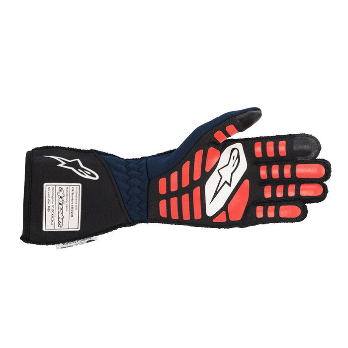 Alpinestars TECH-1 ZX V2 Racing Gloves - Blue / Black / Fluo Orange Back - Fast Racer