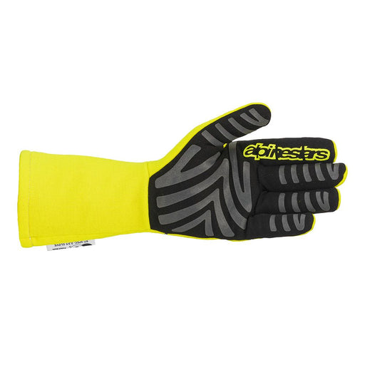 Alpinestars Tech-1 Race Start V2 Racing Gloves - Yellow Flue / Black Back - Fast Racer