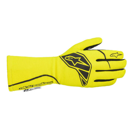 Alpinestars Tech-1 Race Start V2 Racing Gloves - Yellow Flue / Black Front - Fast Racer