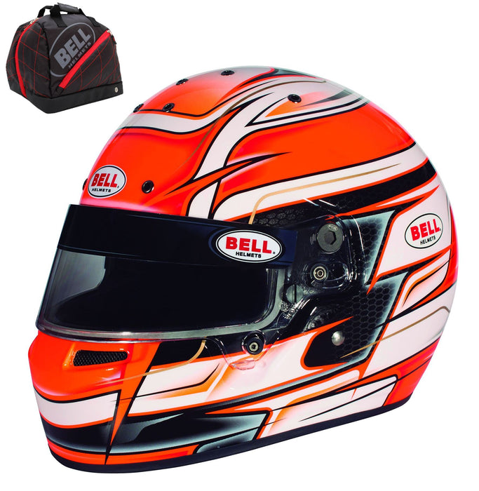 Bell KC7-CMR VENOM Youth Kart Helmet Orange - Fast Racer