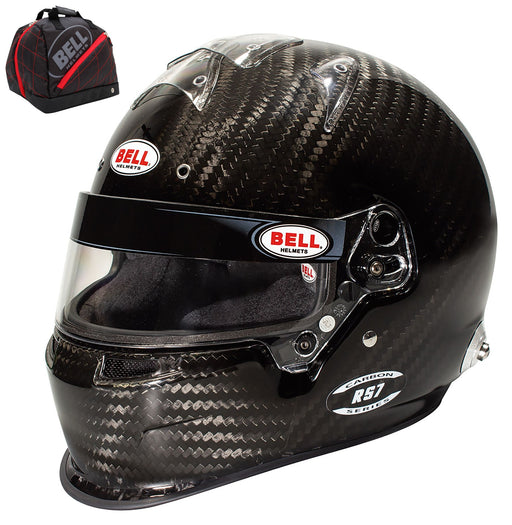 Bell RS7 Duckbill Automotive Racing Helmet Carbon Fiber Helmet+ Victory R.1 Helmet Bag - Fast Racer