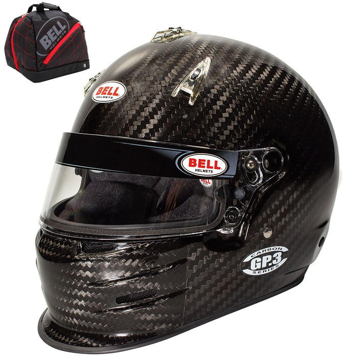 Bell GP.3 Carbon Racer Helmet SA2020 Helmet Racing Kart +FREE Bag Back View - Fast Racer