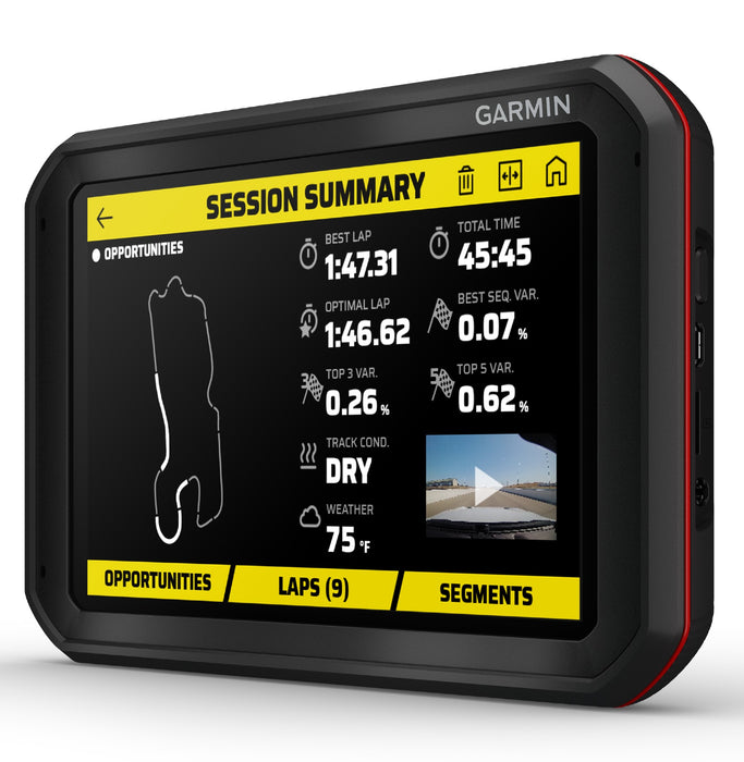 Garmin Catalyst Track Performance Optimizer - Session Summary Opportunities - Fast Racer