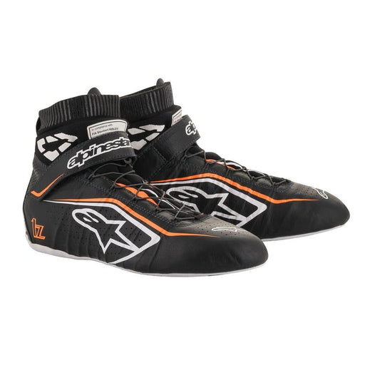 Alpinestars  TECH-1 Z V2 Racing Shoes / Boots, Black/Orange - Fast Racer