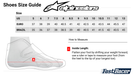 Sizing Chart Alpinestars Race Kart Shoes Boot - Fast Racer