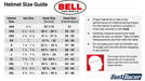 Bell Helmets Kart Racing Automotive Size Chart
