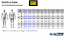Size Charts OMP Race Kart Suits Fast Racer Metric Measurement System