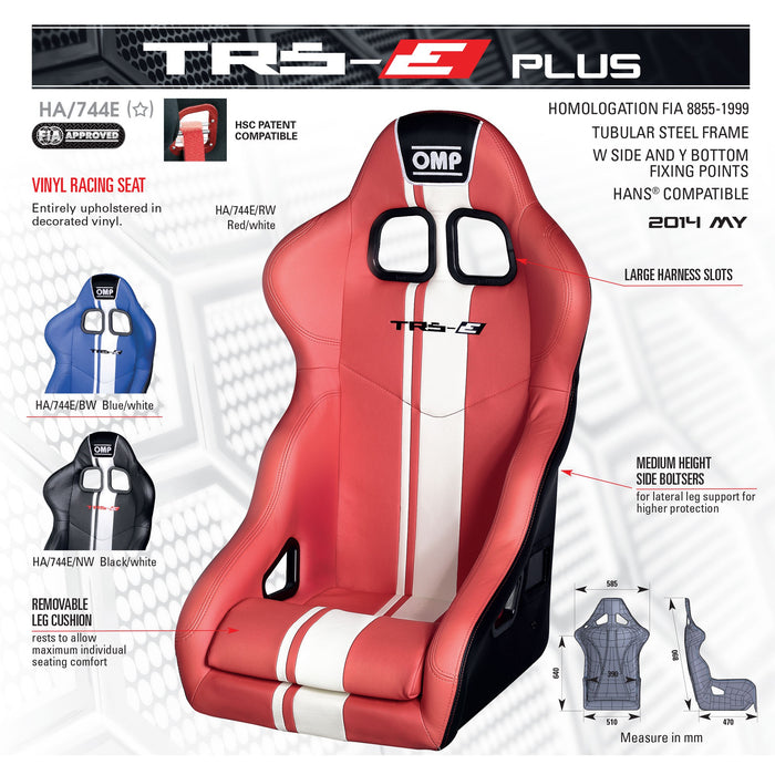 OMP | TRS-E PLUS Tubular Frame Racing Seat