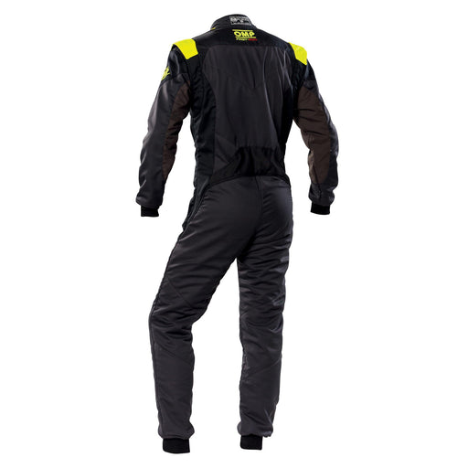 OMP FIRST EVO SUIT MY2020 Anthracite Black Fluo Yellow - Fast Racer