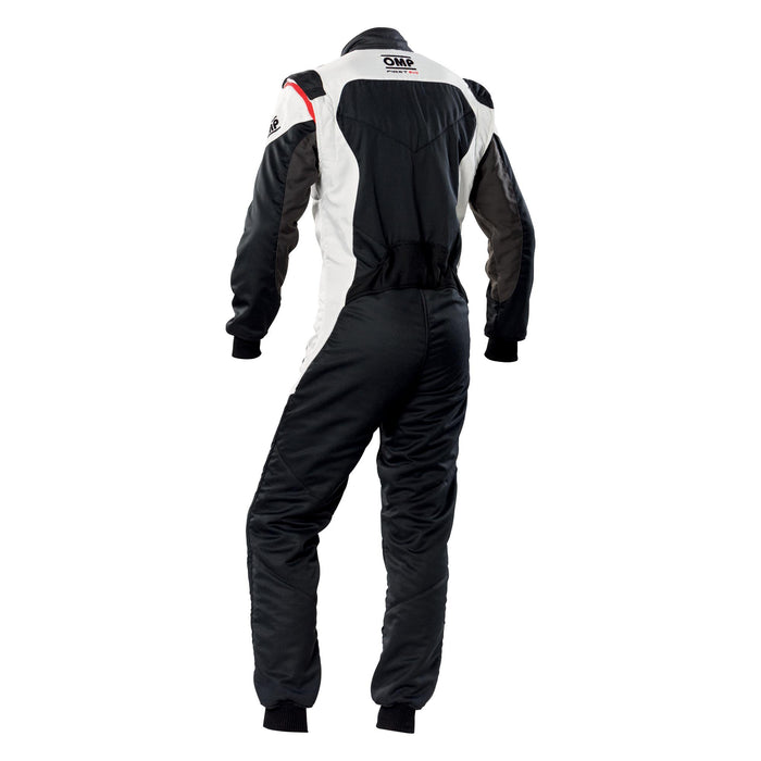 OMP FIRST EVO SUIT MY2020 Black White - Fast Racer