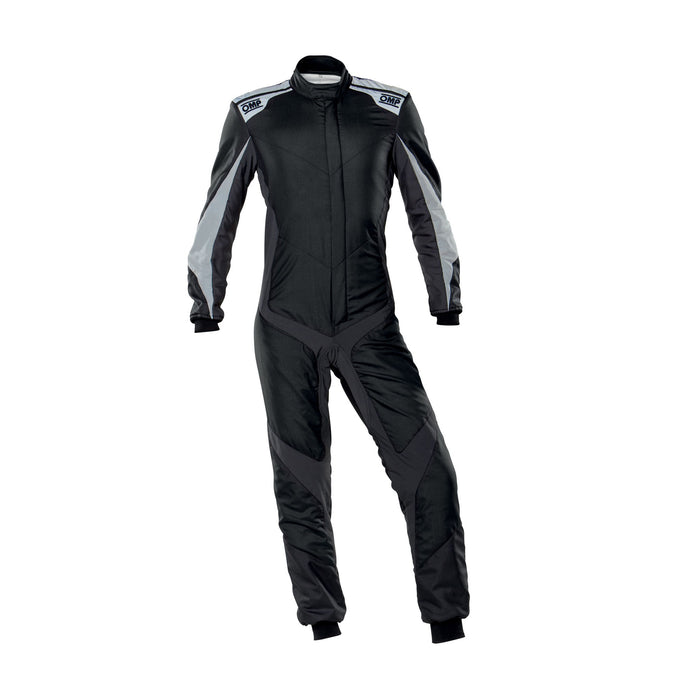 OMP One Evo X Racing Suit - Ultra-light Racing Suit - IA01861 - Front - Black / Silver - MY2021 - Fast Racer