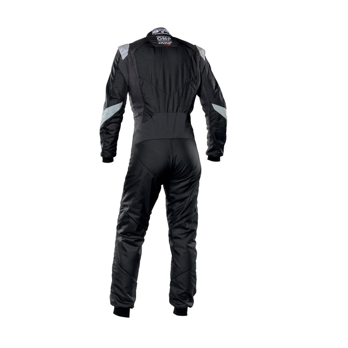 OMP One Evo X Racing Suit - Ultra-light Racing Suit - IA01861 - Back - Black / Silver - MY2021 - Fast Racer
