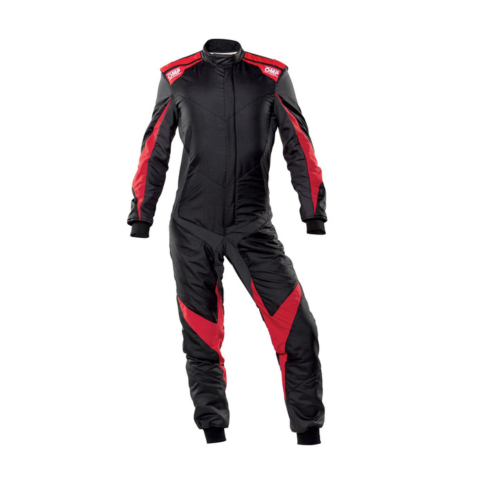 OMP One Evo X Racing Suit - Ultra-light Racing Suit - IA01861 - Front - Black / Red - MY2021 - Fast Racer