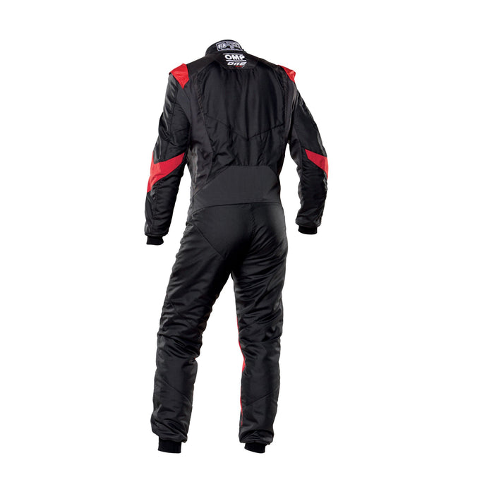 OMP One Evo X Racing Suit - Ultra-light Racing Suit - IA01861 - Back - Black / Red - MY2021 - Fast Racer