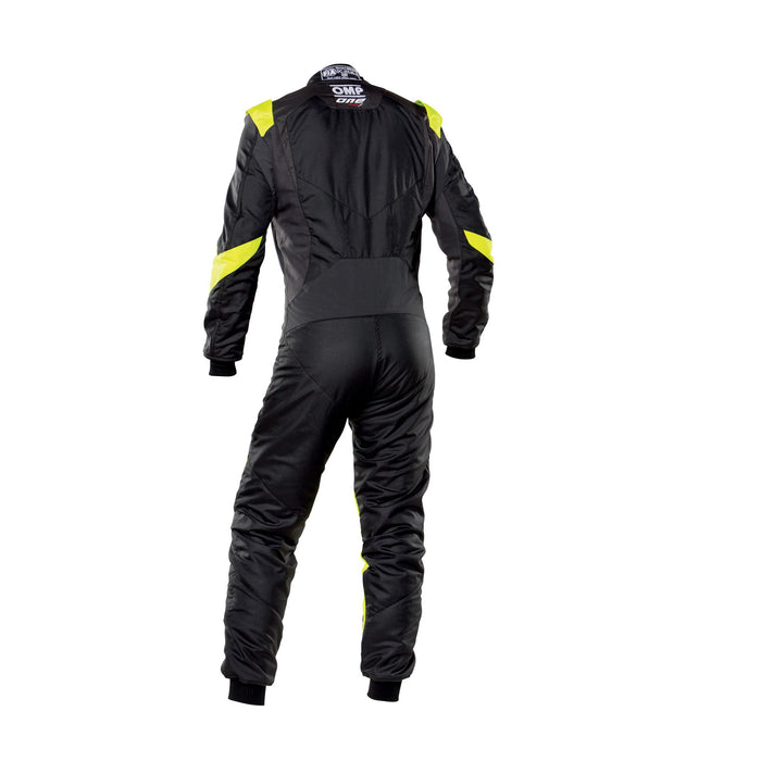 OMP One Evo X Racing Suit - Ultra-light Racing Suit - IA01861 - Back - Black / Fluo Yellow - MY2021 - Fast Racer