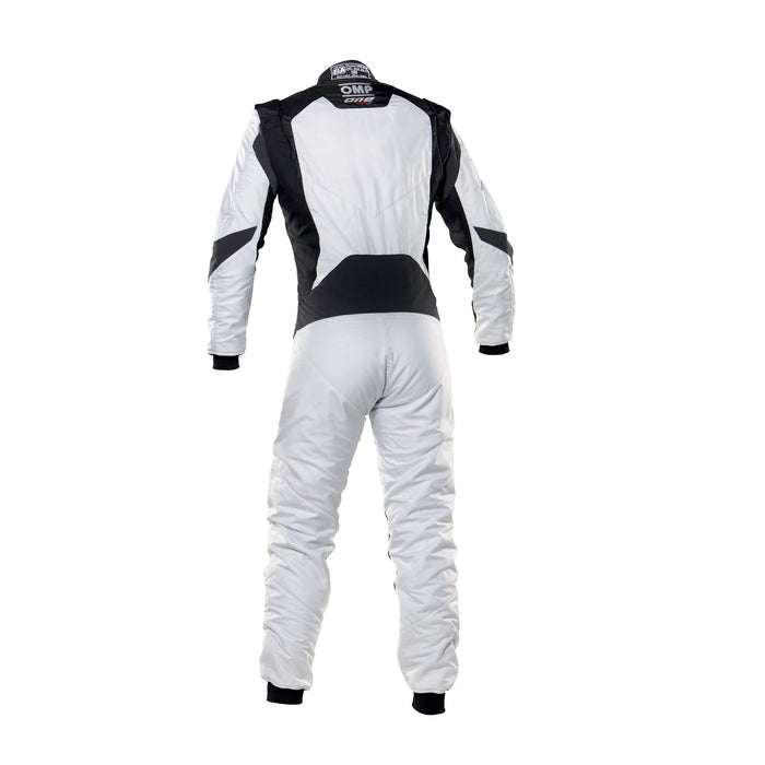 OMP One Evo X Racing Suit - Ultra-light Racing Suit - IA01861 - Back - Light Silver / Black - MY2021 - Fast Racer