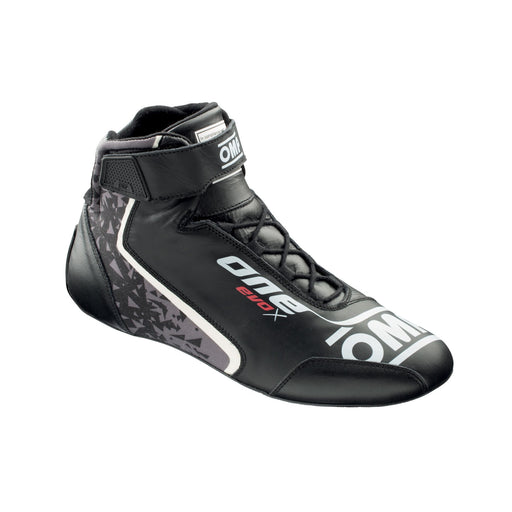 OMP ONE EVO X Professional Racing Shoes MY2021 - Right - Black - Fast Racer