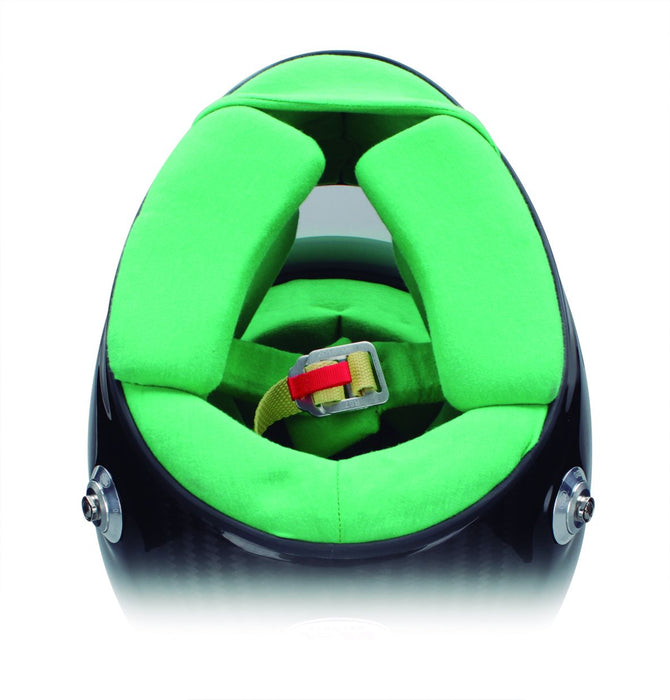 Bell Carbon Helmets - Colored Interior Green | Fast Racer