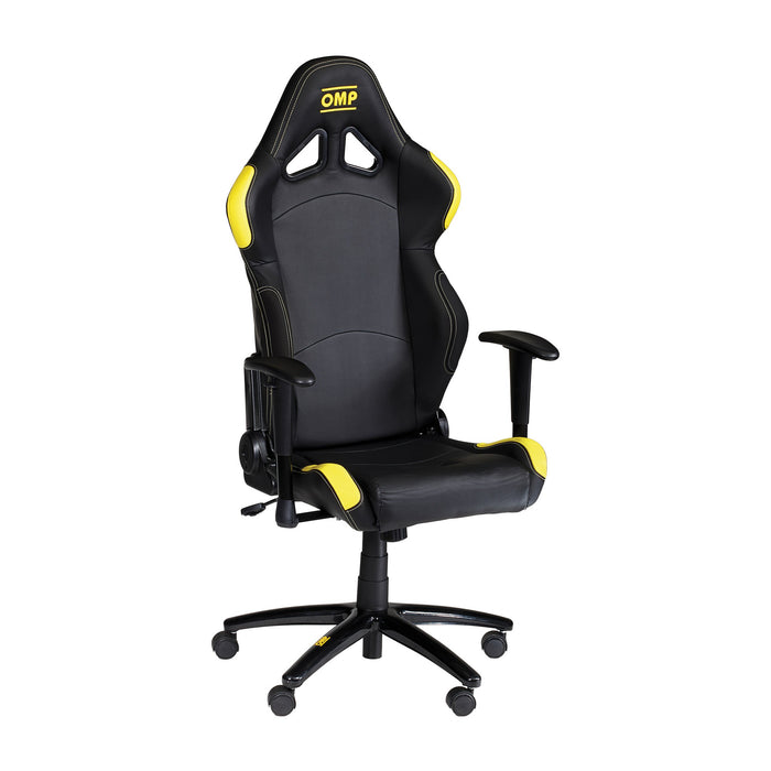 OMP | Racing Style Wheeled Office Chair HA/777E - Black/Yellow