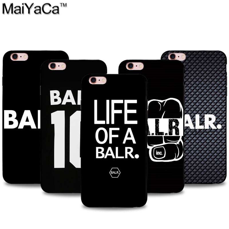 quality design fabec 4113f Silicone BALR Black Iphone Case