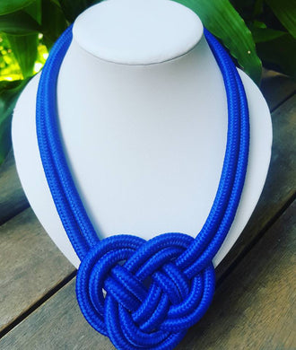 Cobalt Knot Necklace