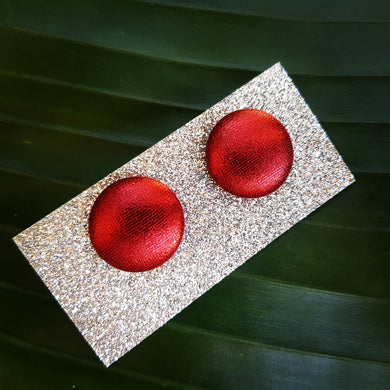 Metallic Red Studs