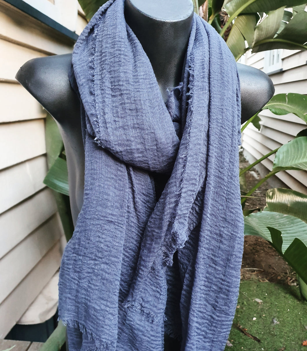 Indigo light scarf