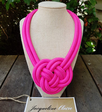 Hot Pink Knot Necklace