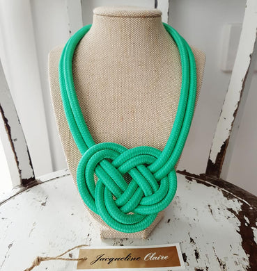 Spearmint Knot Necklace