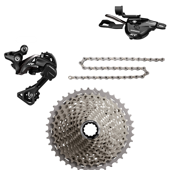 Shimano Deore XT Groupset (minus chainring & bottom bracket)