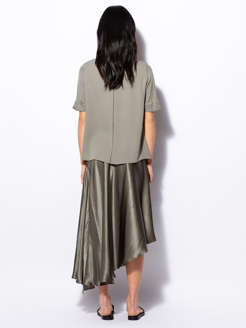 Kara skirt light military