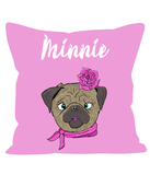 Personalised Kids Cushion - Pug