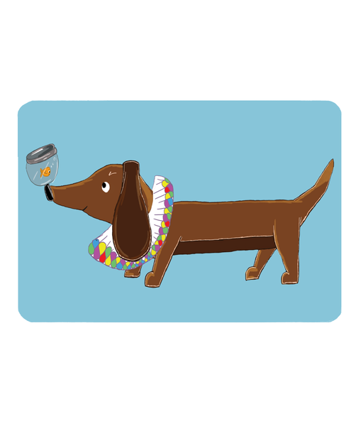 Pet Food Mat - Daschund & Goldy