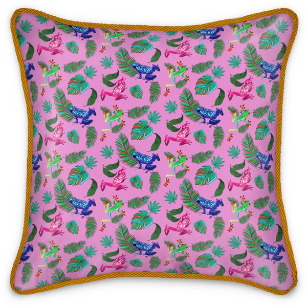 Silk Satin Cushion - Frogs Life
