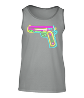 Mens Fashion Basic Tank Top- Neon gun