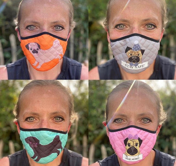 Pack of 4 Elasticated Face Masks
