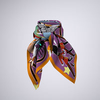 London Calling Silk  Scarf- 90cmx90cm Silk Twill Scarf