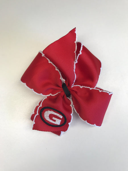 Georgia Bulldogs Crochet Bow