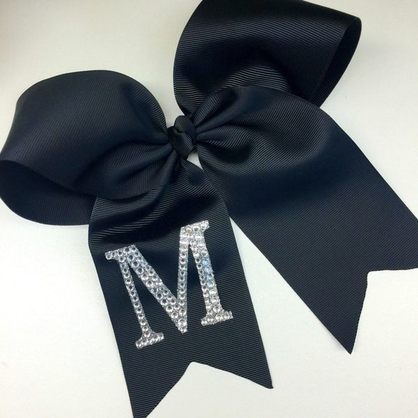 Large Rhinestone Initial, Hair Bows, Gift Idea, Custom Boutique, Monogram, Monogrammed, Girls Cheer, Competition Gift, Personalized Monogram
