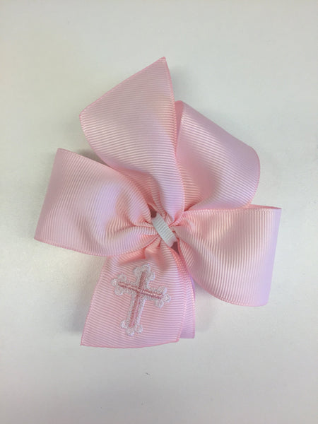 Cross Embroidered Bow